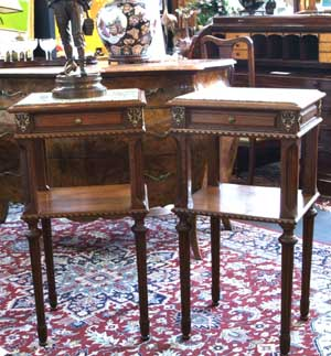 A Pair of French Oak Bedside Tables SOLD