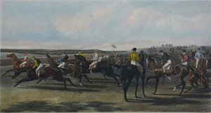 'A False Start' Epsom Derby horse racing engraving