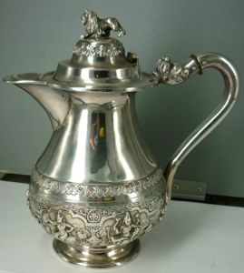 Anglo-Indian Silver Water Jug