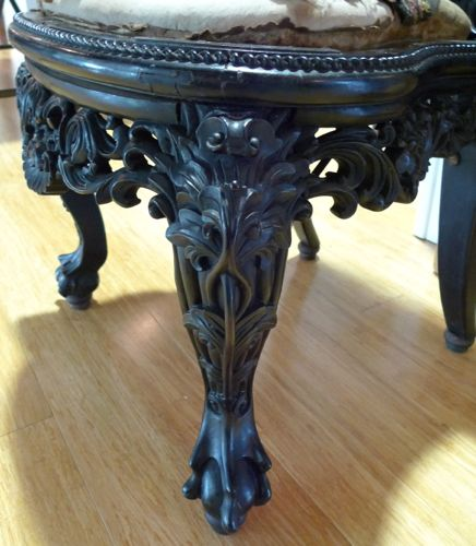 Anglo Indian Carved Chair mid 19th C.