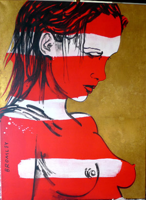 David Bromley Red Romy 120 x 91cm