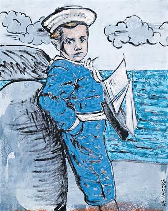 A Rare David Bromley Sailor Boy 150cm x 120cm