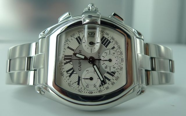 CARTIER ROADSTER GNTS STEEL CHRONOGRAPH