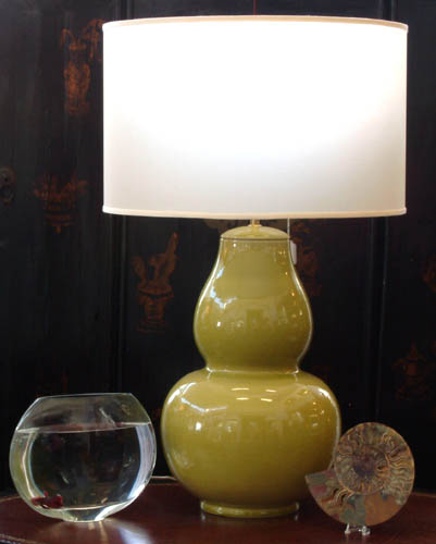 Chatreuse gourd lamp