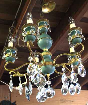 French 5 arm Crystal Chandelier
