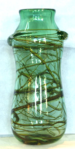 Jablonski Crystal Vase - Large Green