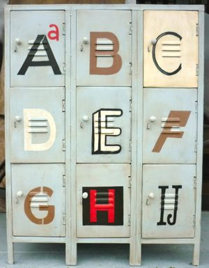 Funky Metal Locker ABC
