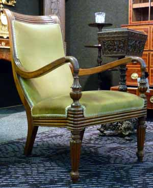 Anglo Indian padoukwood chair c.1840-60