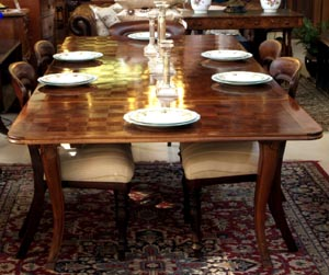 A French Provincial Parquetry Extension Table