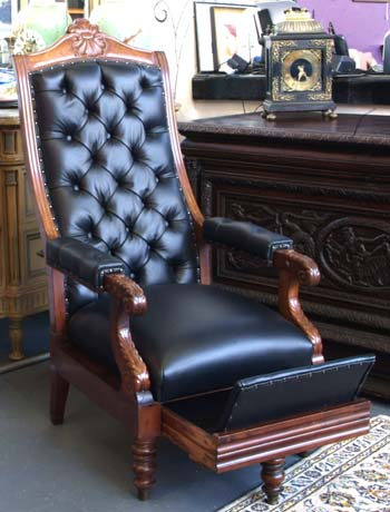 A Rare English Gentleman's Library Chair C.1820